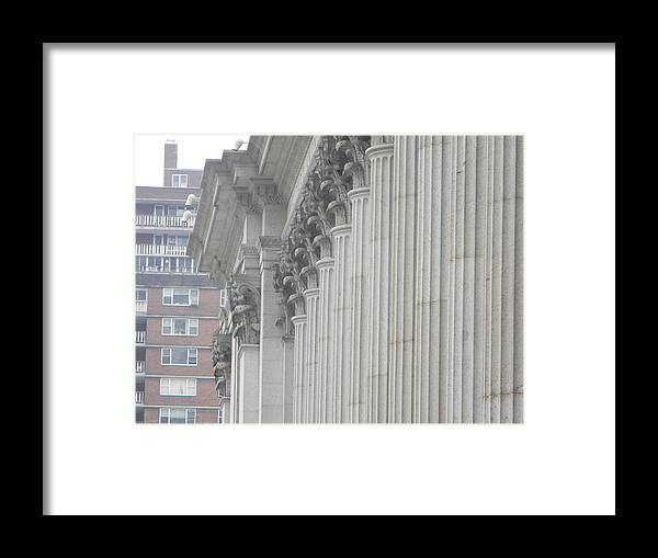 Building Framed Print featuring the photograph White Building by Daniel Cruger