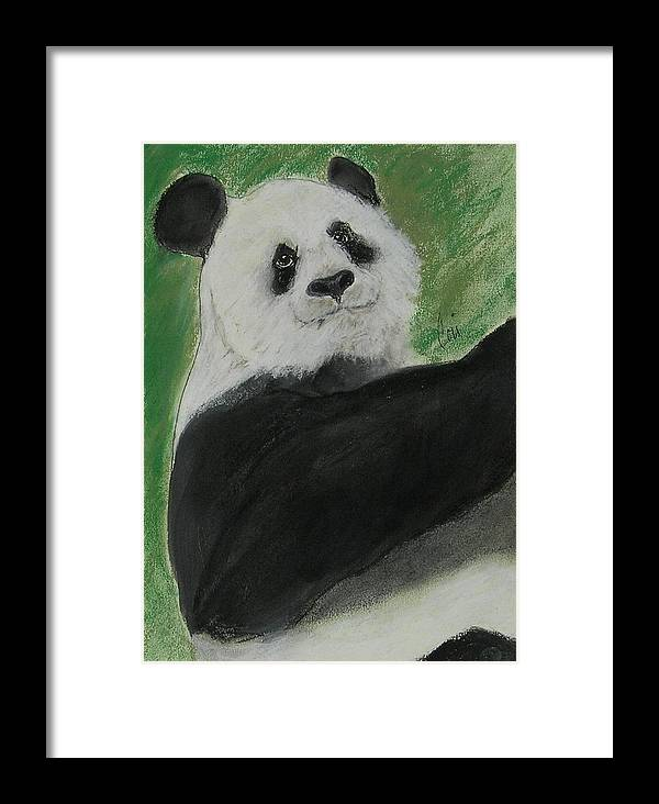 Pastel Framed Print featuring the drawing White Cloud by Cori Solomon