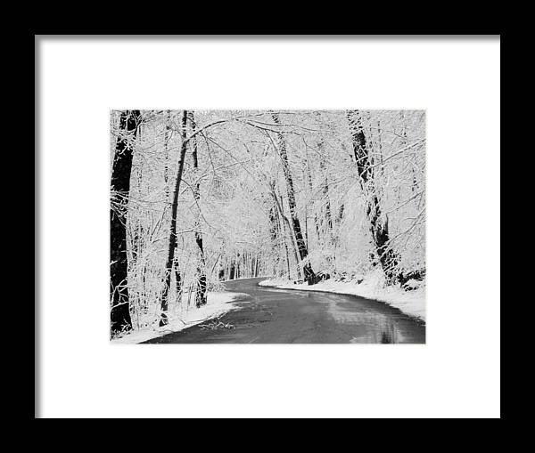Snow Framed Print featuring the photograph White Crystals by Gail Schmiedlin