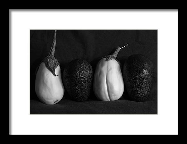 Solanum Melongena Esculentum Framed Print featuring the photograph White Eggplant by Robert Bermea