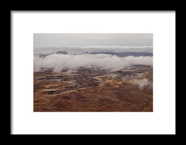 Summer Framed Print featuring the photograph White Rim In The Rain by Charlie Choc