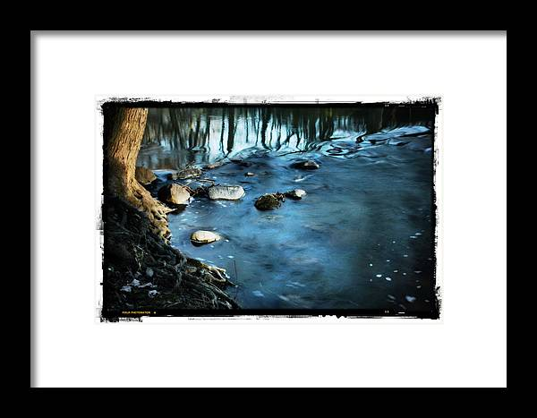 Nature Framed Print featuring the photograph White River Flowing by Brett Beaver