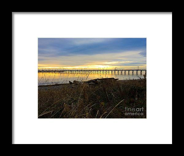 White Rock Framed Print featuring the photograph White Rock Pier by David Tonn