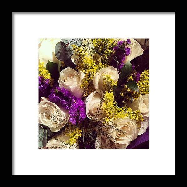 Flowers Framed Print featuring the photograph White Roses by Dana Bucy Miller