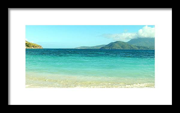 St Kitts Framed Print featuring the photograph White Sand Blue Sky Blue Water by Ian MacDonald