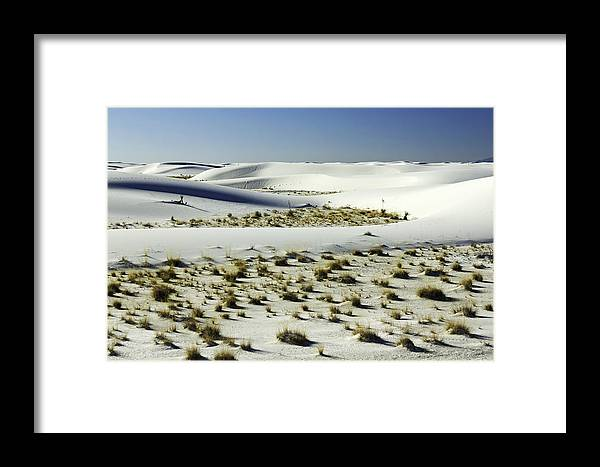 White Sands Photographs Framed Print featuring the photograph White Sands National Monument-098 by David Allen Pierson