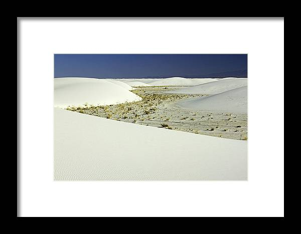 White Sands Photographs Framed Print featuring the photograph White Sands National Monument-106 by David Allen Pierson