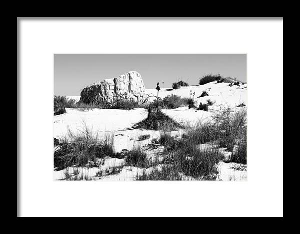 White Sands Photographs Framed Print featuring the photograph White Sands National Monument-127 by David Allen Pierson