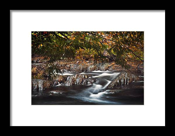 Moving Water Framed Print featuring the photograph White Silk by Don Powers