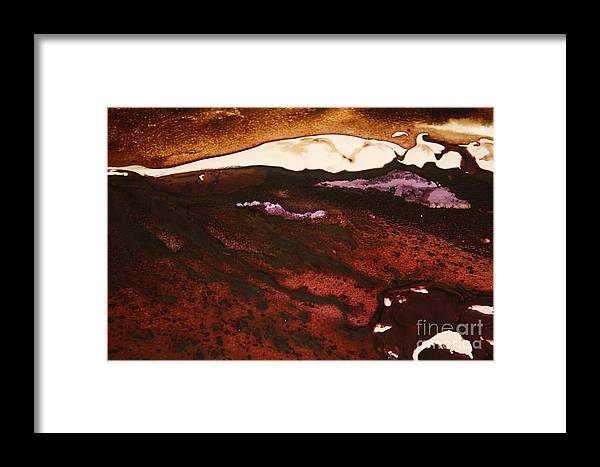Cream Framed Print featuring the photograph White Strip by Lisa Payton