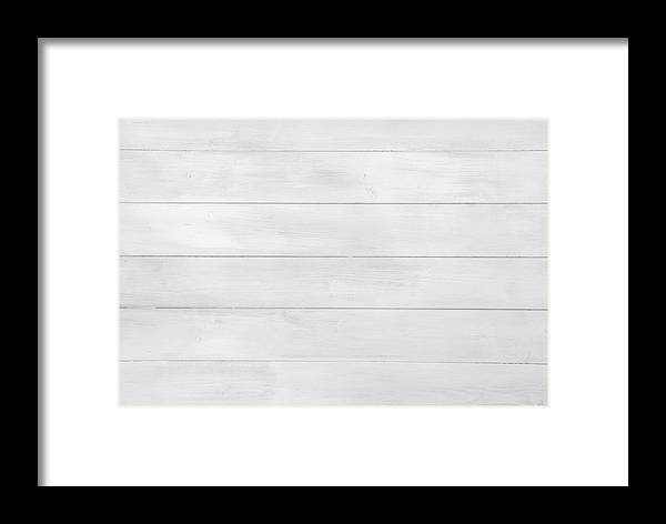 White Wood Texture Tiles Background Seamless Xxl Framed Print