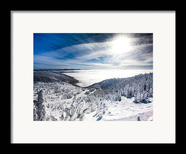 Sun Framed Print featuring the photograph Whitefish Inversion by Aaron Aldrich