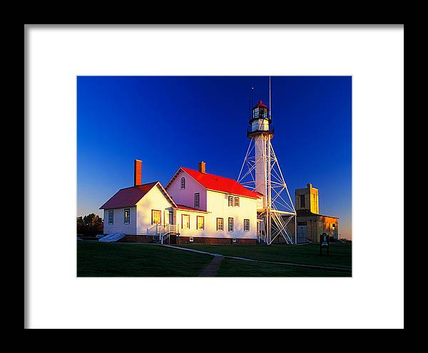 Active Framed Print featuring the photograph Whitefish Point Lighthouse by David Davis