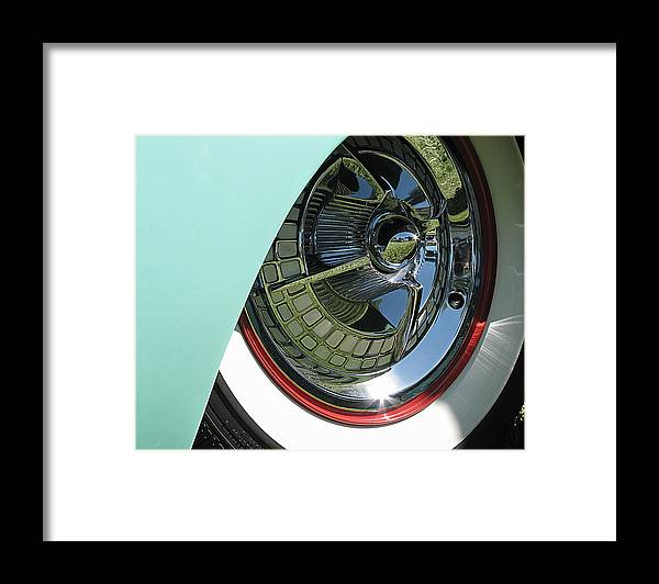 United States Framed Print featuring the photograph Whitewalls And Chrome by Darin Volpe