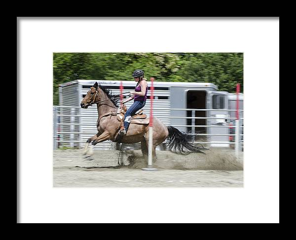 Horse Framed Print featuring the photograph Whoa by Janet Capps
