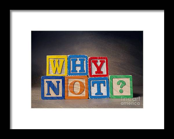 Why Not Framed Print featuring the photograph Why Not? by Art Whitton