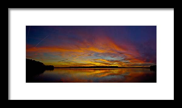 Panorama Framed Print featuring the photograph Widescreen Sunset by David Parrish