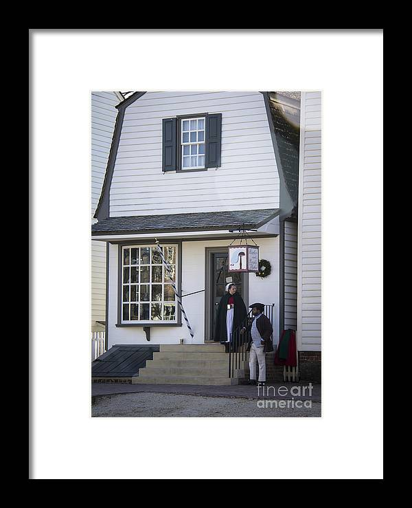 Colonial Framed Print featuring the photograph Wigmaker And Barber Shop Williamsburg Virginia by Teresa Mucha