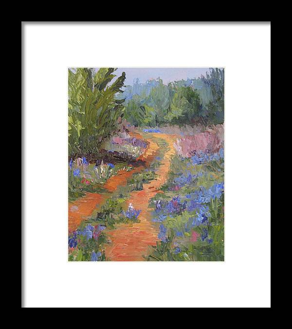Sheri Jones Framed Print featuring the painting Wild And Blue by Sheri Jones