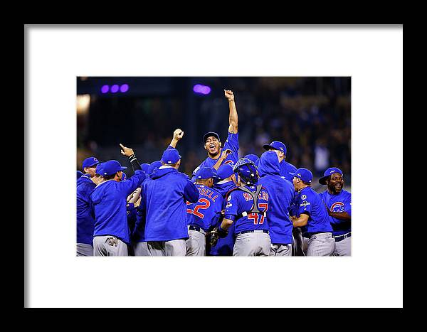 Playoffs Framed Print featuring the photograph Wild Card Game - Chicago Cubs V by Jared Wickerham