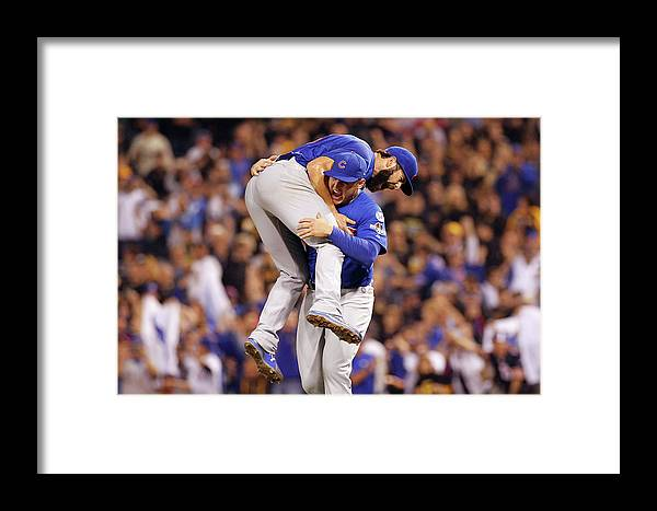 Playoffs Framed Print featuring the photograph Wild Card Game - Chicago Cubs V by Justin K. Aller