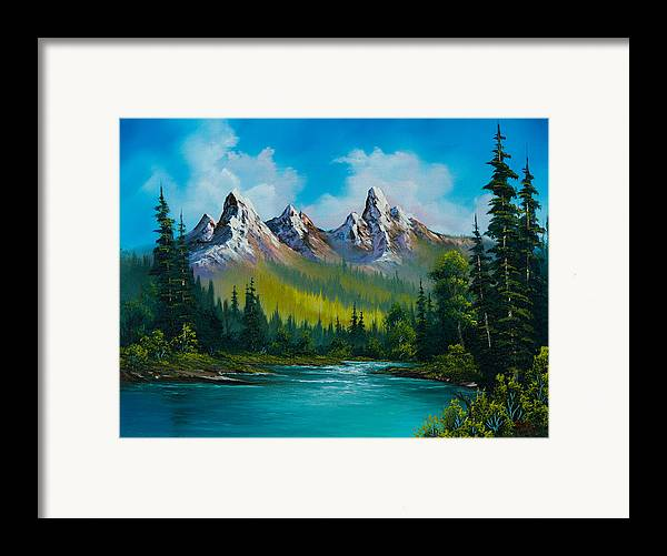 Landscape Framed Print featuring the painting Wild Country by C Steele