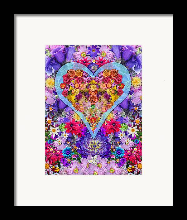 Wild Flower Heart Framed Print featuring the photograph Wild Flower Heart by Alixandra Mullins