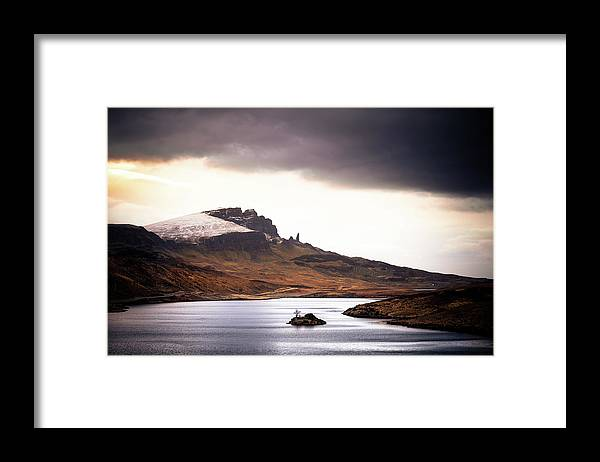 Water's Edge Framed Print featuring the photograph Wild Nature Landscape In Scotland, Isle by Zodebala