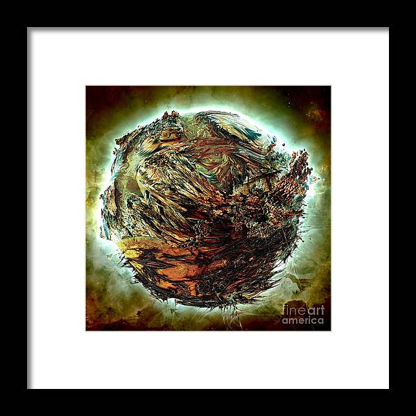 Fractal Art Framed Print featuring the digital art Wild Planet by Bernard MICHEL