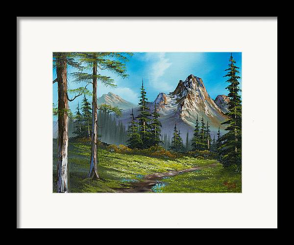 Landscape Framed Print featuring the painting Wilderness Trail by C Steele