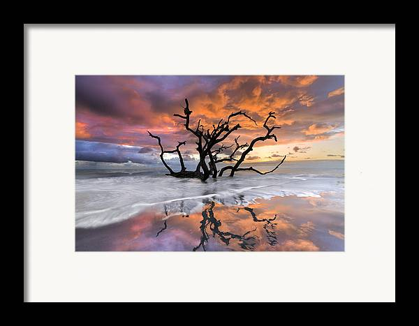 Clouds Framed Print featuring the photograph Wildfire by Debra and Dave Vanderlaan