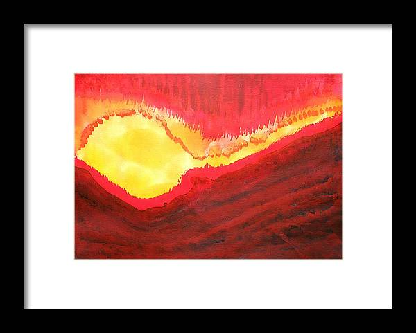Fire Framed Print featuring the painting Wildfire Original Painting by Sol Luckman