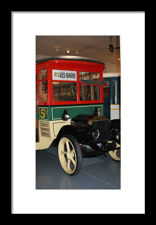 Bus Framed Print featuring the photograph Wilkes Barre Bus  # by Rob Luzier