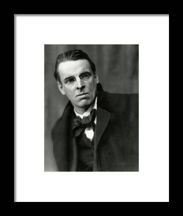 Literary Framed Print featuring the photograph William Butler Yeats Wearing A Bowtie by Arnold Genthe