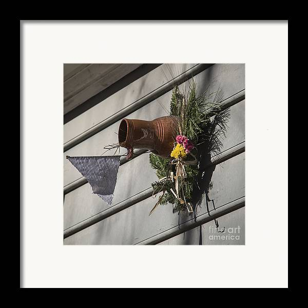Colonial Framed Print featuring the photograph Williamsburg Bird Bottle 1 by Teresa Mucha