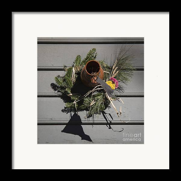 Colonial Framed Print featuring the photograph Williamsburg Bird Bottle 2 by Teresa Mucha