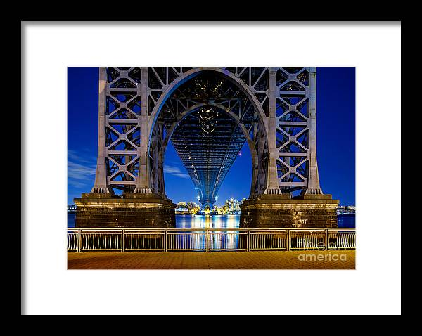Williamsburg Bridge Framed Print featuring the photograph Blue Punch by Az Jackson