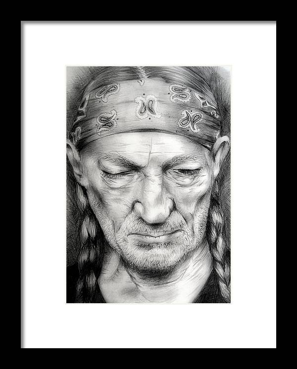 Willie Framed Print featuring the drawing Willie by Stephanie LeVasseur