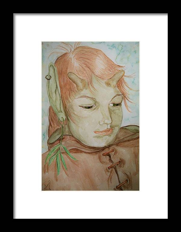 Faerie Framed Print featuring the painting Willow by Carrie Viscome Skinner