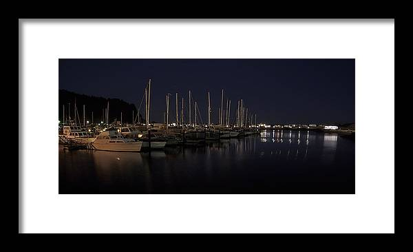 fishing Boats Framed Print featuring the photograph Winchester Bay Marina - Oregon Coast by Daniel Hagerman