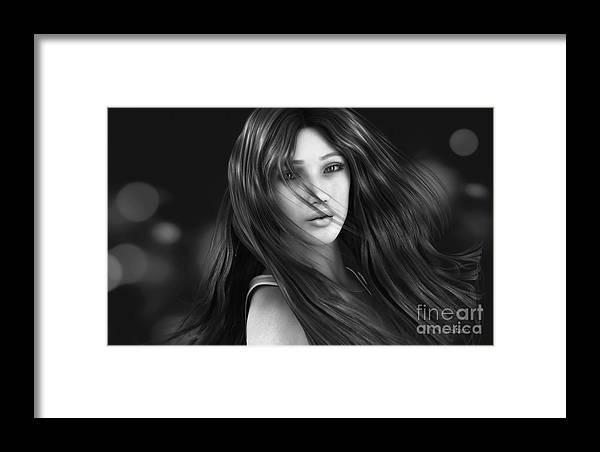 3d Framed Print featuring the digital art Wind Smells Of Freedom by Jutta Maria Pusl