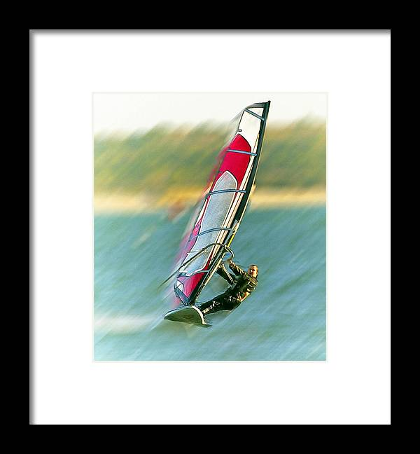 Wind Surfer Framed Print featuring the photograph Wind Surfer by Constantine Gregory