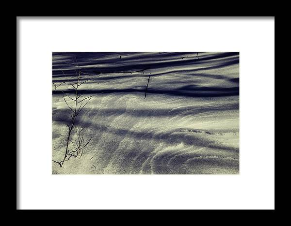 Wind Framed Print featuring the photograph Wind Swept Snow by Louie Terra
