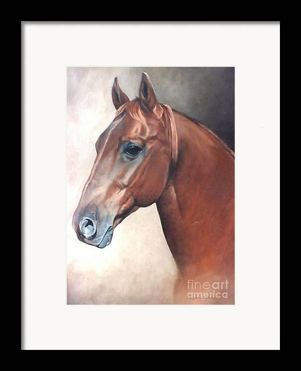 Horses Framed Print featuring the painting Winddancer by Suzanne Schaefer