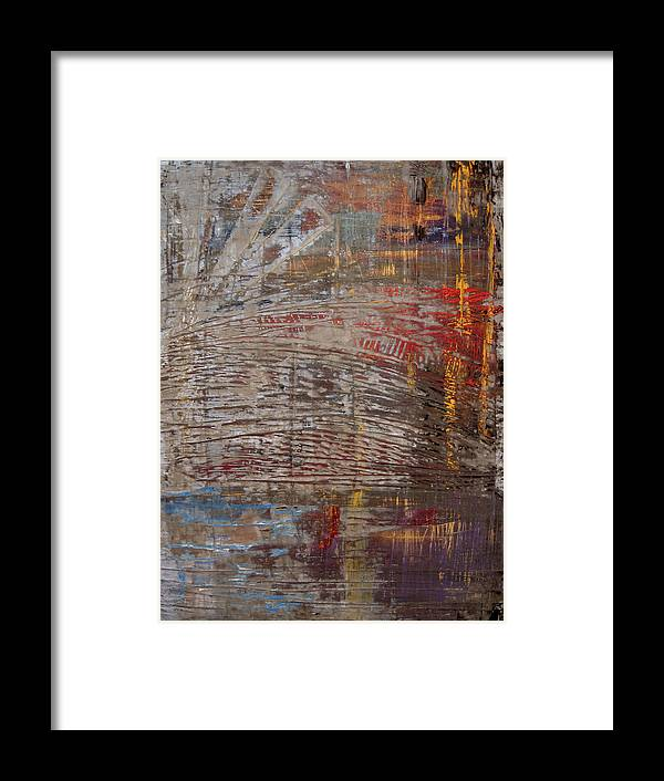 Abstract Framed Print featuring the painting Windfall by Natalie Starnes