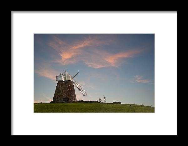 Windmill Framed Print featuring the photograph Windmill At Sunset by Matthew Gibson