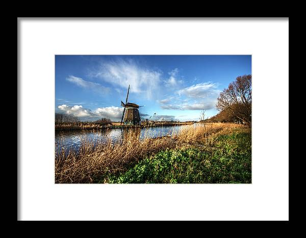 Windmill Framed Print featuring the photograph Windmill by John Michael Bing