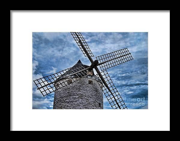 Windmill Framed Print featuring the photograph Windmill Of La Mancha by Alexandra Jordankova