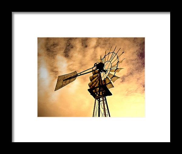 Windmill Framed Print featuring the photograph Windmill by Shandel Gauthier