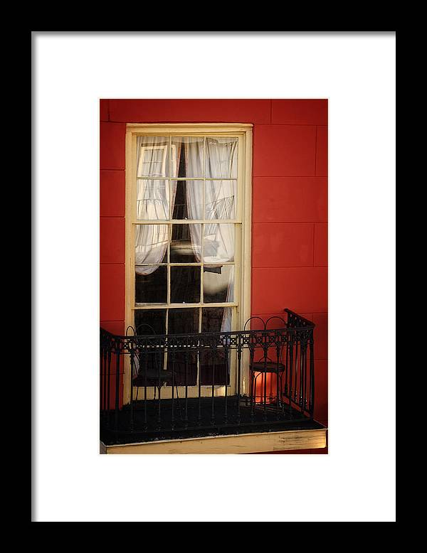 French Quarter Framed Print featuring the photograph Window Access by Greg and Chrystal Mimbs